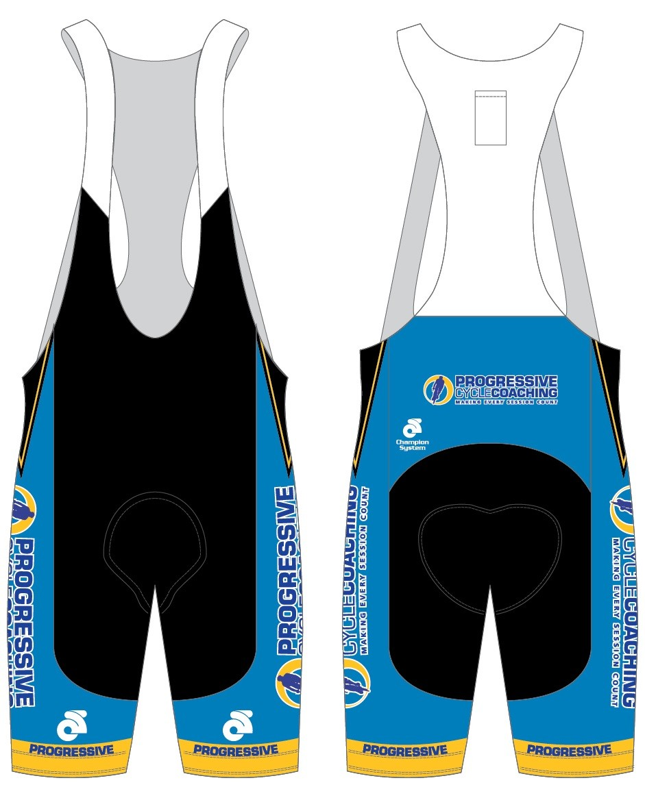 PRE-ORDER Progressive Cycle Coaching Jersey and Bib Shorts