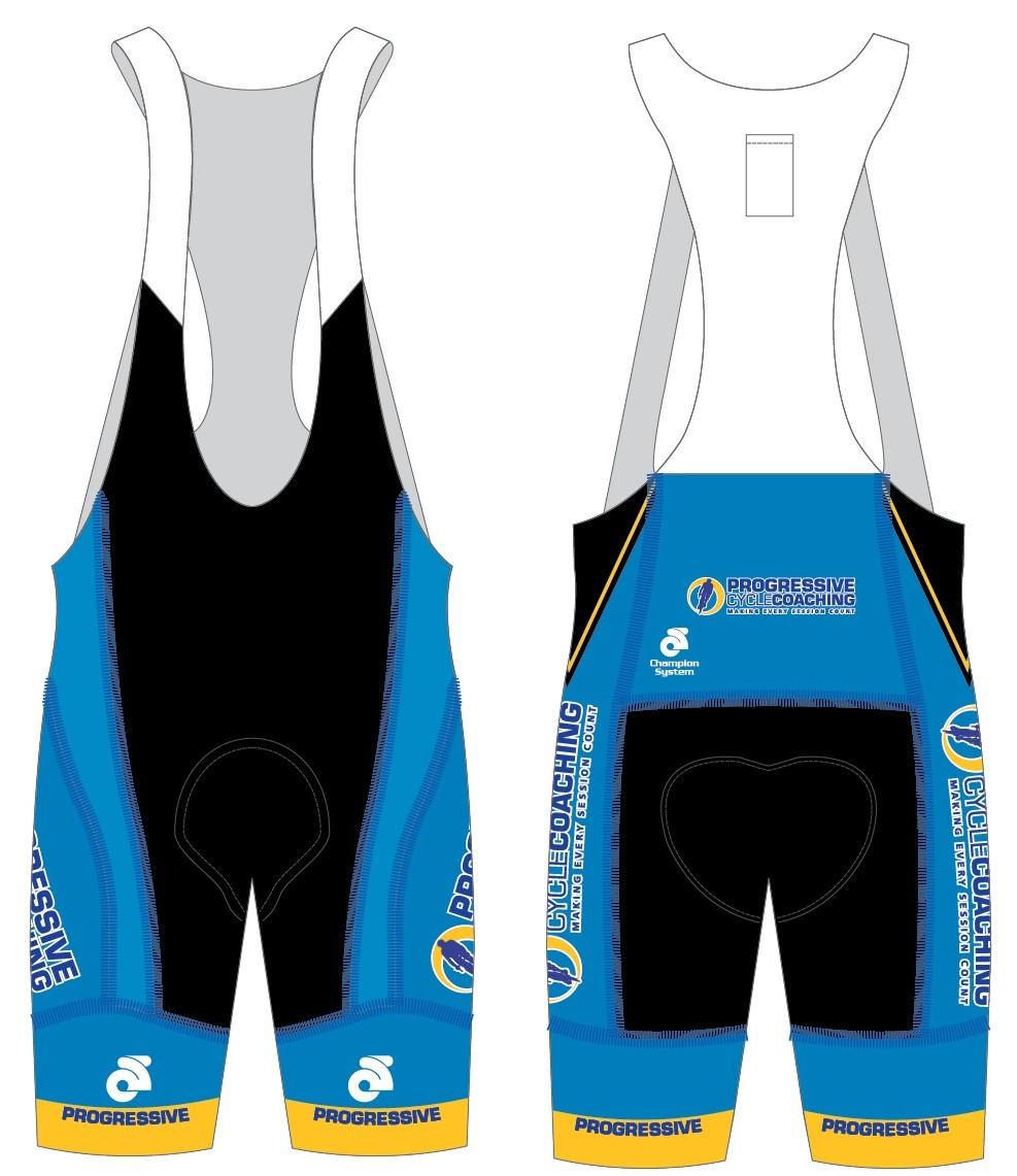 PRE-ORDER DELUX Progressive Cycle Coaching Elite Pro Jersey and Elite Razor Bib Shorts