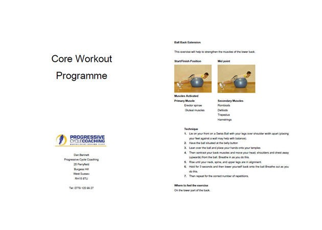 Core Workout for cyclist